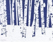 Birches: Limited Edition Print (from the Snow Is In The Air collection)