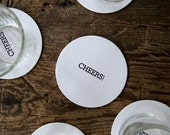 Cheers!: Letterpress Pub Coasters (set of 10)