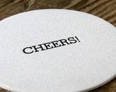 Cheers - Letterpressed Pub Coasters - Set of 10