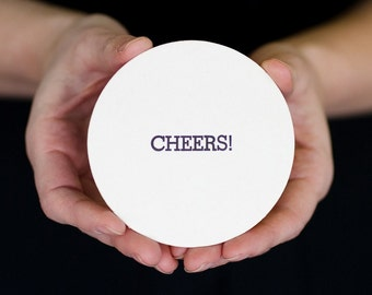 Cheers: Letterpress Pub Coasters (10ct)
