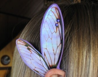 Purple Cicada Fairy Ear Wings