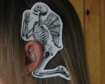 Praying Skeleton w/ Wings Ear Wings