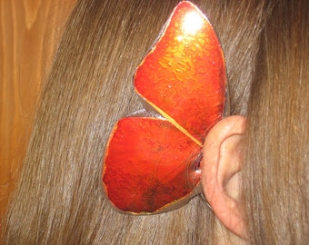 Copper rust Butterfly Ear Wings