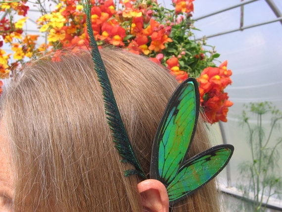 Men Boys Unisex Ear Wings Black St. Patrick's Green Glitz