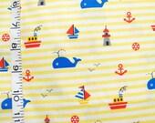 LAST PIECE Whale Cotton Fabric