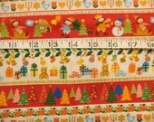 SALE Merry Christmas Japanese Cotton Fabric
