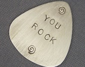 Sterling Silver Custom Guitar Pick Great Graduation or Father's Day Gift  2- sided