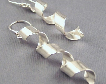 Sterling Silver Corkscrew Earrings