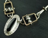 SALE! 50% off!  Abacus and Black Onyx Necklace
