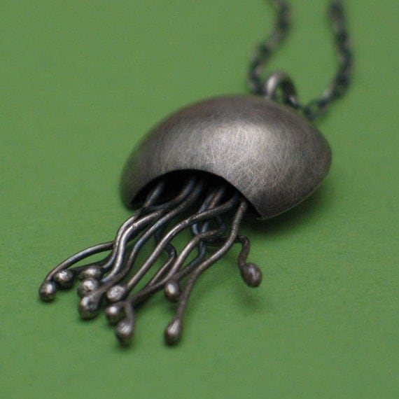 Silver Jellyfish Necklace