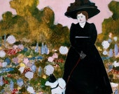 fine art print - she always saw beauty - limited edition reproduction of original oil painting