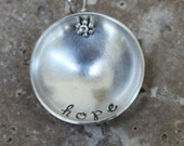 stamped & domed sterling silver necklace - custom