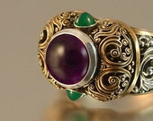 THE EMPRESS ring with Amethyst and Chrysoprase