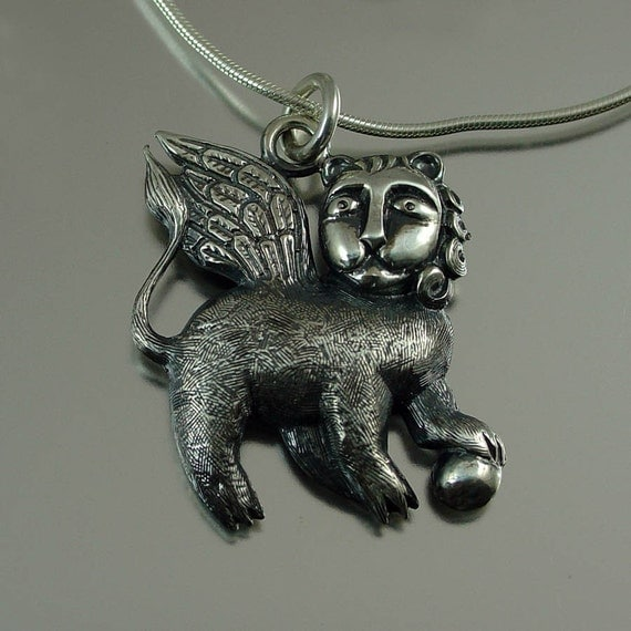 winged lion silver mark