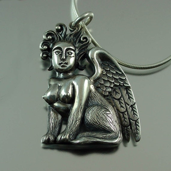 SPHINX silver pendant - ready to ship