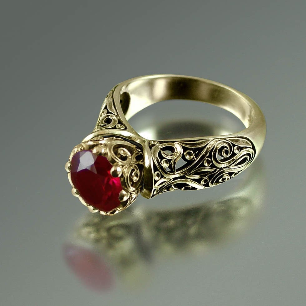 the enchanted princess 14k gold ruby engagement ring reserved. Black Bedroom Furniture Sets. Home Design Ideas