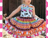 BOUTIQUE NRF NY monopoly  ruffle dress Sample Sale  size 4t 5t