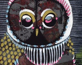 Owl 2- hand painted one-of-a-kind limited edition print