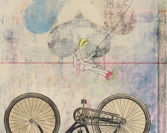 bike art print - limited edition - Navigator