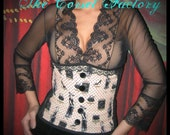 Rockabilly, Pinup, Forget Me Not 1920's Underbust  Corset