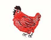 chicken block print