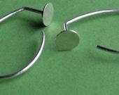Spot Curl: Sterling Silver Mock-Gauge Earwire Hoop Earrings