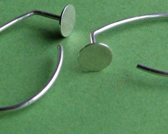 Spot Curl: Sterling Silver Mock-Gauge Earwire Hoop Earrings