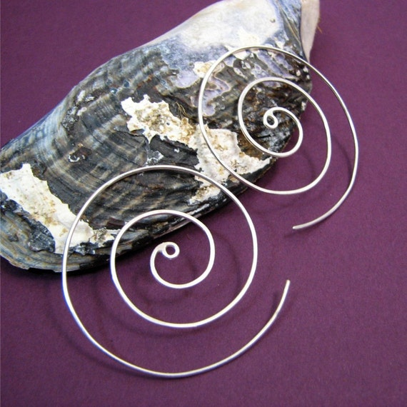 Large Spiral Earrings