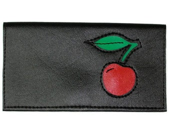 Duplicate Checkbook Cover with Sweet Cherry Design by Tender Roni Available for Top or Left Tear Checks