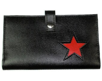 Large Women's Wallet with Star Design in CUSTOM Colors by Tender Roni *Choose Your Own Colors*