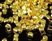 KG-191 thai karen hill tribe silver 100 gold vermeil mini facet bead