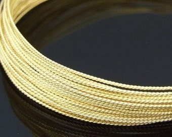 KX-005 thai karen hill tribe handmade silver 10ft. triple wire twist gold vermeil 18ga.