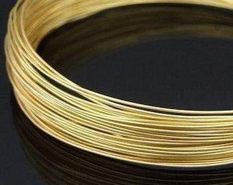 KA-100G thai karen hill tribe handpull silver round wire gold vermeil10ft. 26gauge dead soft