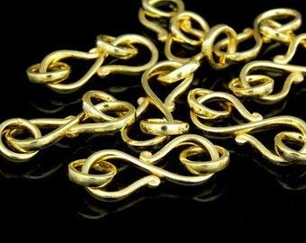 KG-365 thai karen hill tribe silver 2 gold vermeil half round wire S. clasp