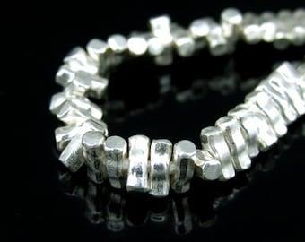 KP-007 thai karen hill tribe silver 15 square bar bead