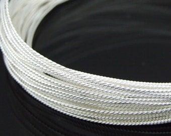 KX-013 thai karen hill tribe handmade silver 5ft. triple twist wire 22ga.