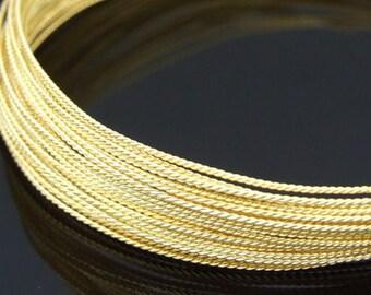 KX-020 thai karen hill tribe handmade silver 5ft. triple wire twist gold vermeil 24ga.