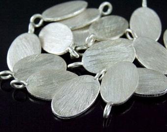 7KH-033 thai karen hill tribe handmade silver 6 brush oval disc charm