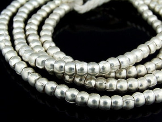 KK-024 thai karen hill tribes silver 20 plain spacer bead