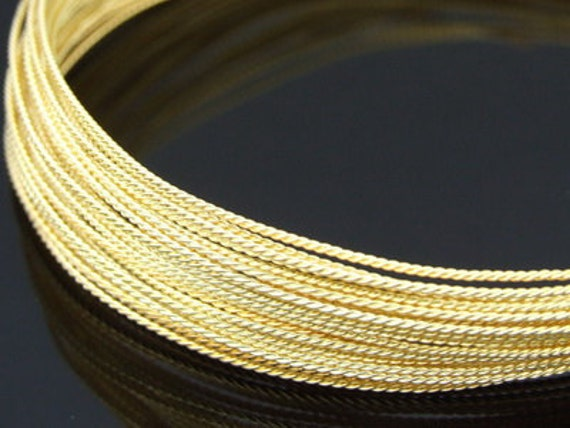 KX-014 thai karen hill tribe handmade silver 5ft. triple wire twist gold vermeil 22ga.