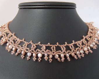 Queen Margaret's Lace Beaded Lace Necklace Pattern
