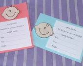 Set of Birth Announcement Cards