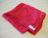 Vintage Red Square Sheer Silk Scarf