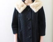 Vintage 60s fur swing coat. - reserved for anniehall14