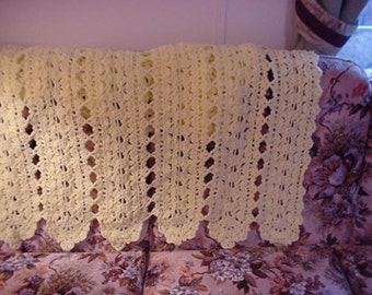 Crocheted Yellow Afghan Blanket AF75-34A Yellow Crochet Blanket Handmade Blanket Crochet Throw Yellow Blanket Crocheted Blanket