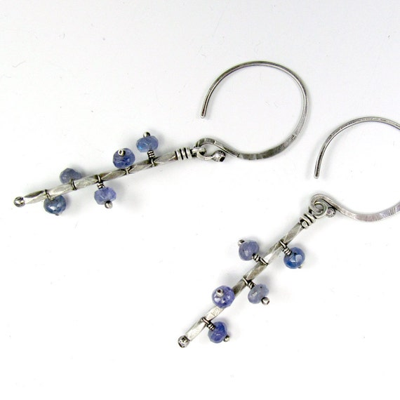 Mobile Earrings in Silver with Periwinkle Tanzanite