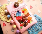 Sweet Pastels Candy Pouch with Sparkly Pom-Poms