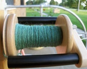 SUCCULENT 4oz heathery green Art Club combed tops from hand dyed wool and nylon