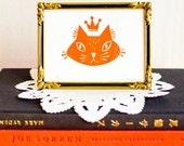 King Cat - gocco print