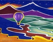 Dawn Over The Valley ACEO New Mexico print